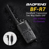 Promo Taffware Walkie Talkie Single Band 3W 16Ch Uhf Bf R7 Black Akhir Tahun