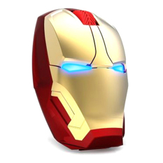 Jual Taffware Wireless Iron Man Style Optical Mouse Silent Click 2 4Ghz Murah Di Banten