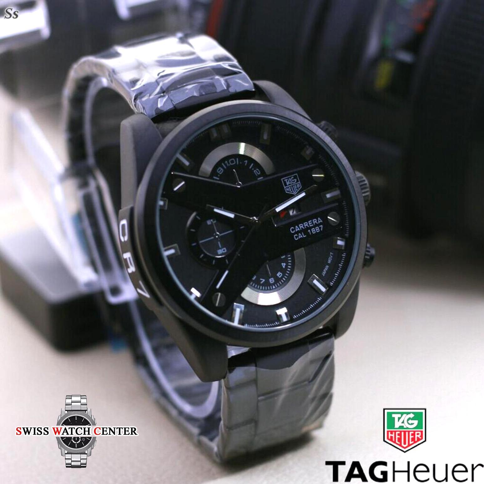 Tag Heuer CR7 - Jam Tangan Pria - Chronograph / Chrono Aktif- Tanggal Aktif - Stainless Steel