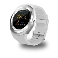 Tahan Air Bluetooth Smart Wrist Watch dengan SIM Kartu Beberapa Kuat Fungsi untuk Ponsel Cerdas Android Samsung HTC Sony LG Huawei lenovo dan IPhone Warna: Putih