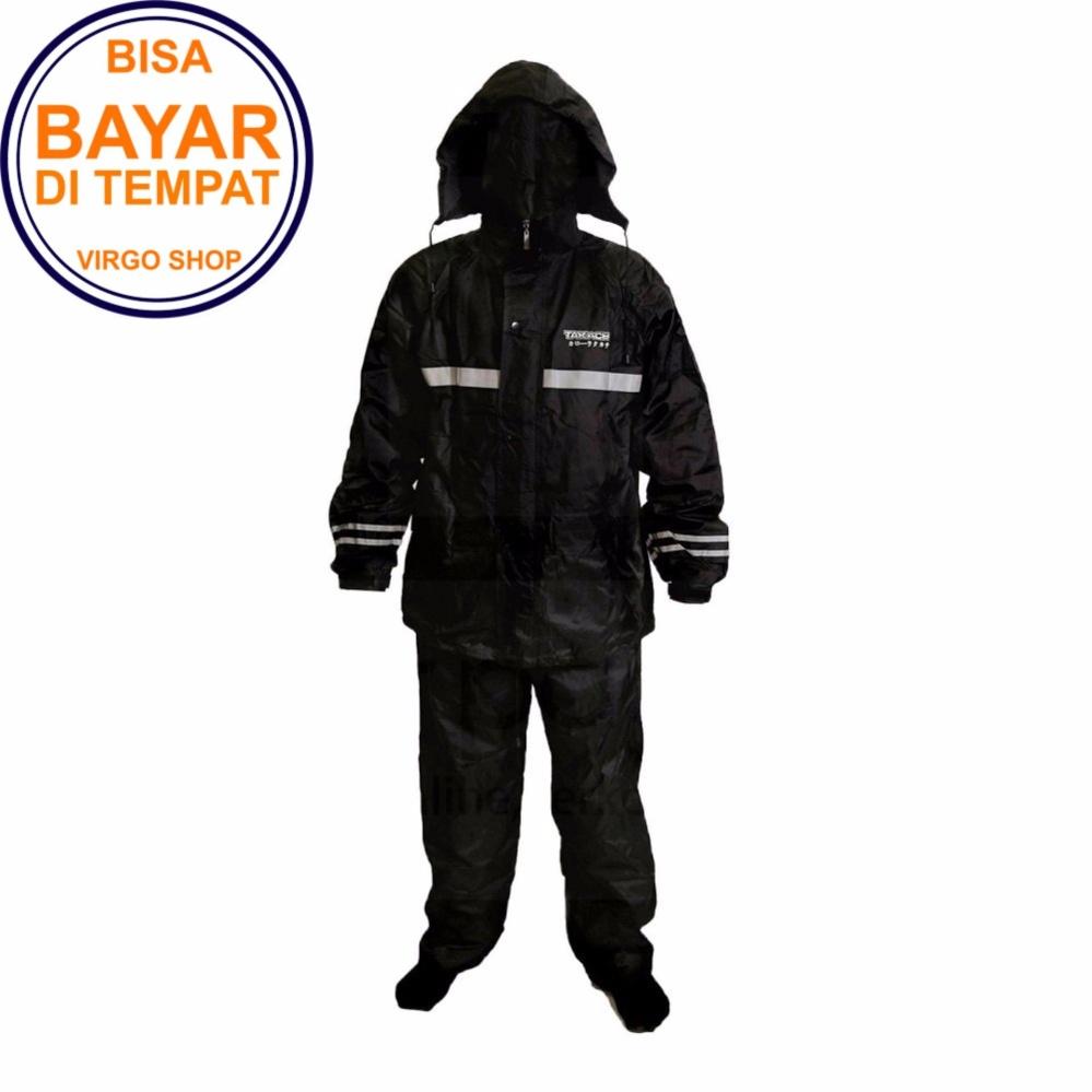 Toko Takachi Jas Hujan 2 Rangkap Raincoat Original Bahan Tebal Seperti Axio Hitam Online