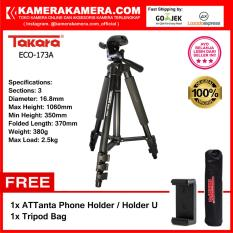 Jual Takara Eco 173A Professional Tripod 173A Black With Tripod Bag For Mirrorless Pocket Action Camera Gopro Brica Xiaomi Canon Nikon Sony Fujifilm Panasonic Free Attanta Holder U Tripod Bag Takara Asli