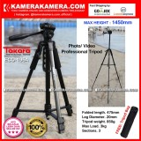 Beli Takara Eco 196A Photo Video Professional Tripod Eco 196A Max Height 1450Mm Free Tripod Bag For Dslr Mirrorless Camera Canon Nikon Sony Fujifilm Panasonic And Action Camera Gopro Brica Xiaomi Yi Kogan And Smartphone Iphone Samsung Takara Murah