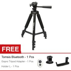 Takara Tripod Eco-173a, Free Holder L + Tomsis Bluetooth+ Gopro Tripod Adapter