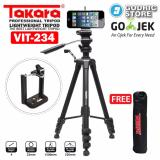 Beli Takara Vit 234 Video Lightweight Tripod Camera Dslr Smartphone Vit 234 With Holder U Takara Asli