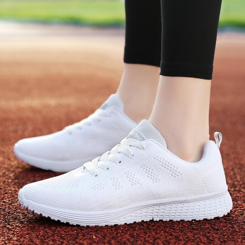 Beli Ditambah Beludru Musim Dingin Siswa Sepatu Running Sepatu Sneaker A08 Wanita Kulit Putih Kredit