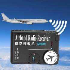Beli T L001 118Mhz 136Mhz Aaa Plastic Black Air Band Radio Aviation Band Receiver Intl Cicilan