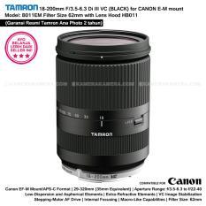 TAMRON 18-200mm F/3.5-6.3 Di III VC for Canon EOS M with Lens Hood - BLACK (Garansi Resmi 2 tahun Ana Photo)