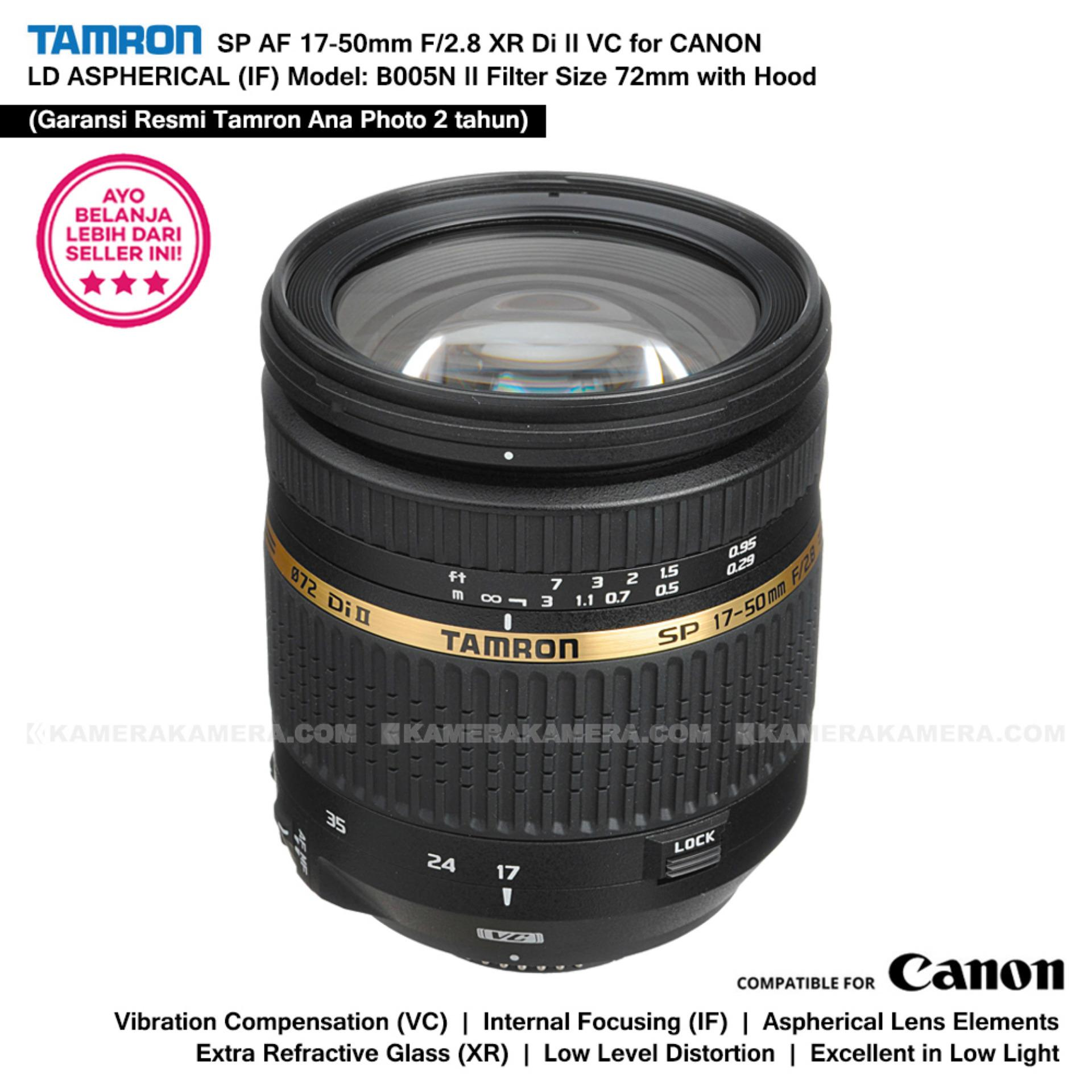 TAMRON SP AF 17-50mm F/2.8 XR Di II VC for CANON LD ASPHERICAL (IF) Model: B005N II with Lens Hood (Garansi Resmi Tamron Ana Photo 2 tahun)