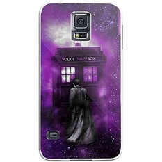 Tardis Tenth Doctor Dr Who in Space Purple for Iphone and Samsung Galaxy Case (Samsung Galaxy S5 white) - intl