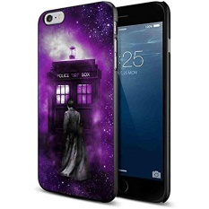 Tardis Tenth Doctor Dr Who in Space Purple for Iphone and Samsung Galaxy Case (iPhone 6 black) - intl