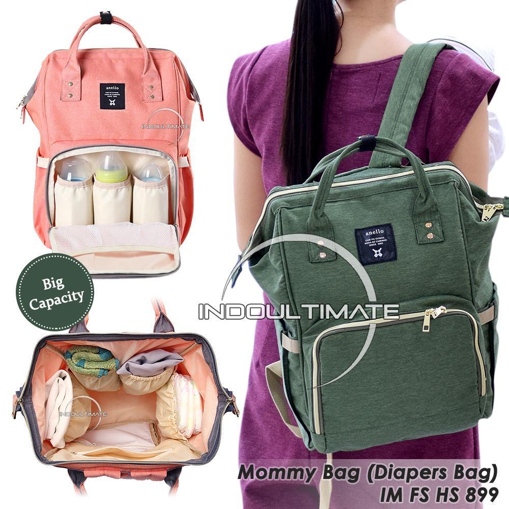 Spesifikasi Tas Bayi Backpack Tas Perlengkapan Baby Ransel Tas Popok Diaper Bag Fs Hs 899 Green Yang Bagus