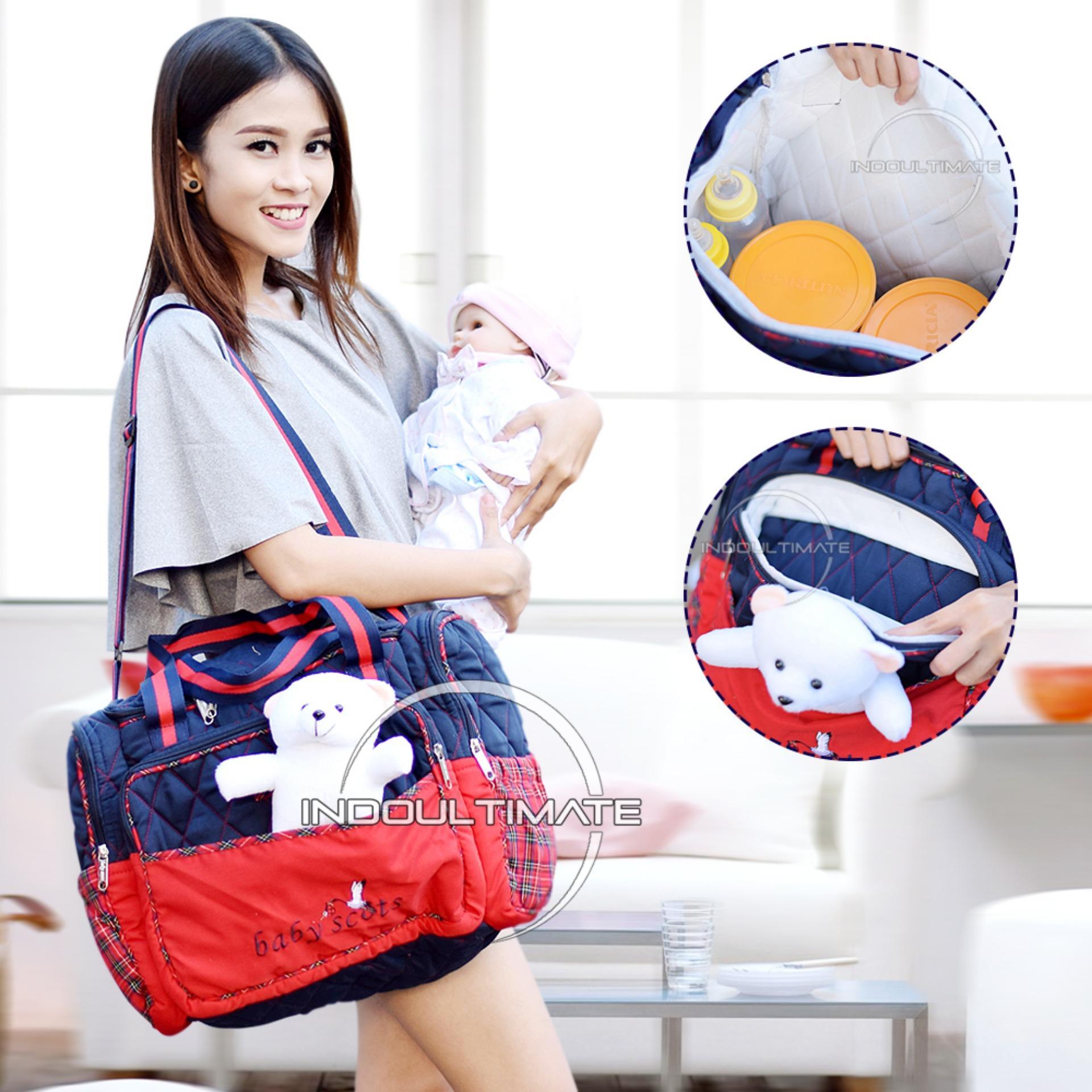 Jual Beli Tas Bayi Big Size Baby Scots Boneka Diaper Bag Tas Perlengkapan Baby By 11 Red Baru Jawa Timur