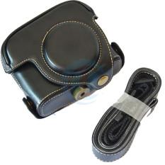 Casing Kamera Kotak Coklat Penutup Kantong With 1/4 Sekrup Penahan Cocok untuk Canon/PowerShot G15 G16 Warna: Hitam-Internasional