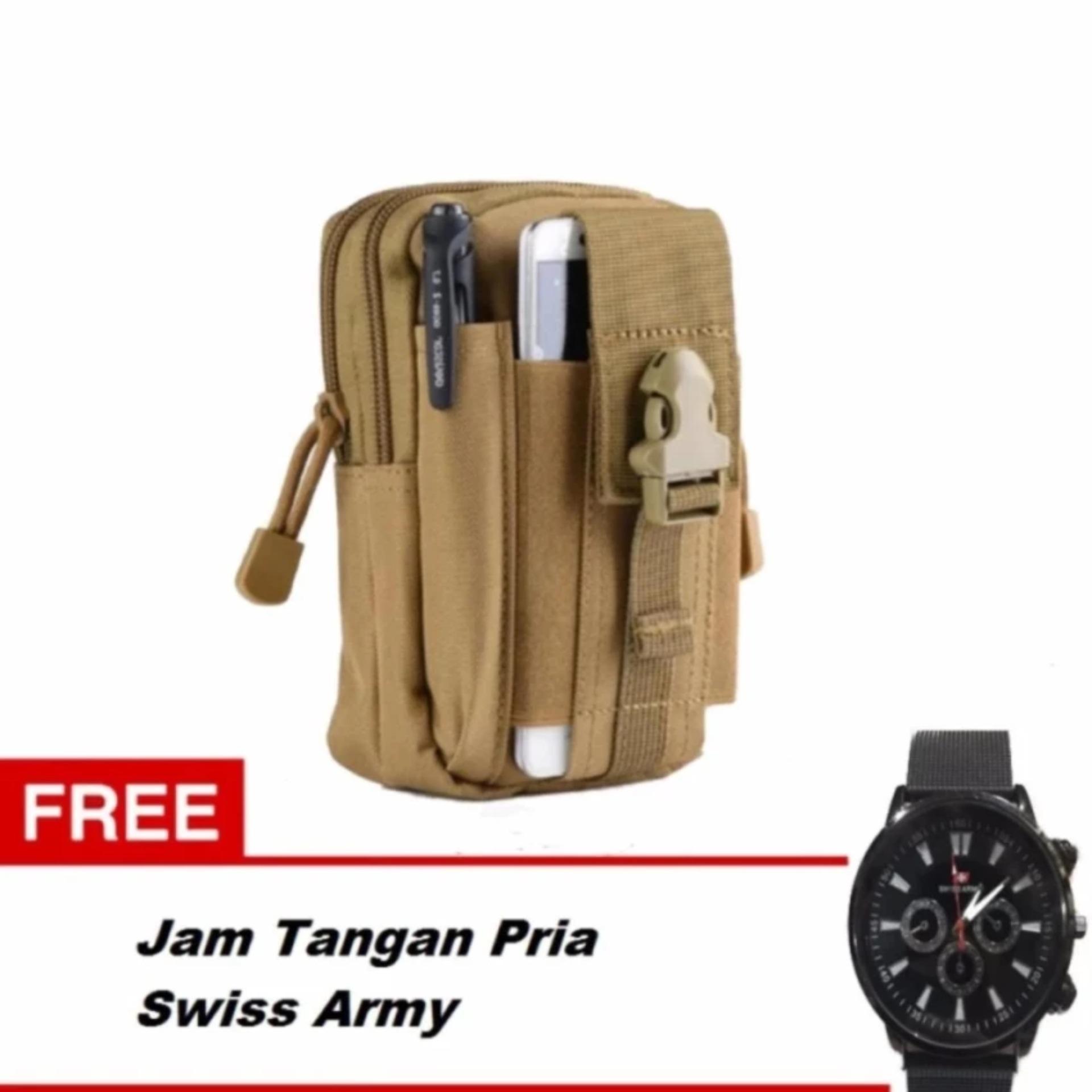 Harga Tas Pinggang Pria Army Tactic Molle Waist Small Bag Military Army Green Gratis Jam Tangan Pria Swiss Army Dki Jakarta