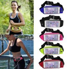 Harga Tas Pinggang Tahan Air 2 Sisi 2 Sides Waterproof Sport Waist Bag For Handphone Android Biru Muda Baru