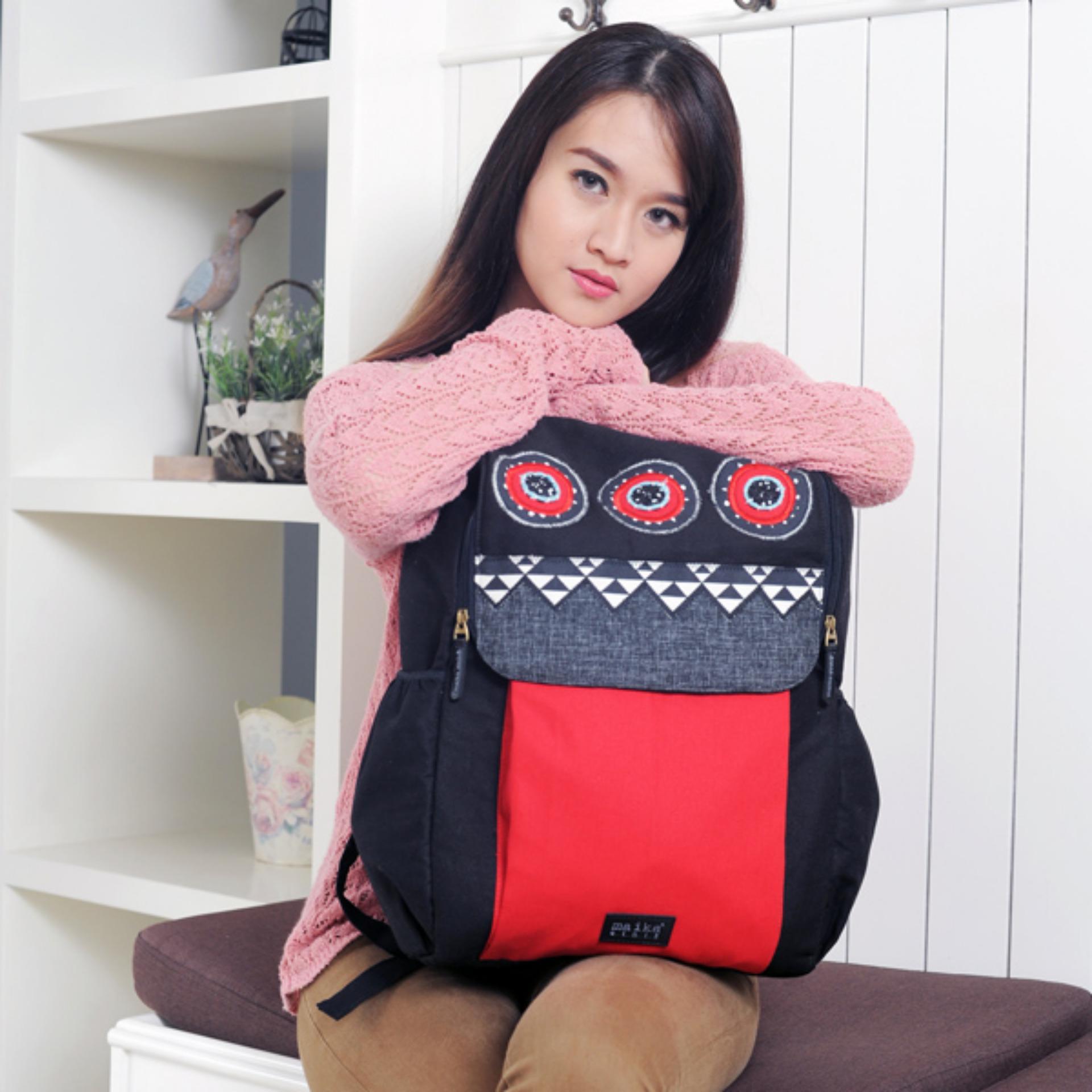 Diskon Tas Punggung Handmade Wanita Backpack Mandai Red Maika Etnik Di Indonesia