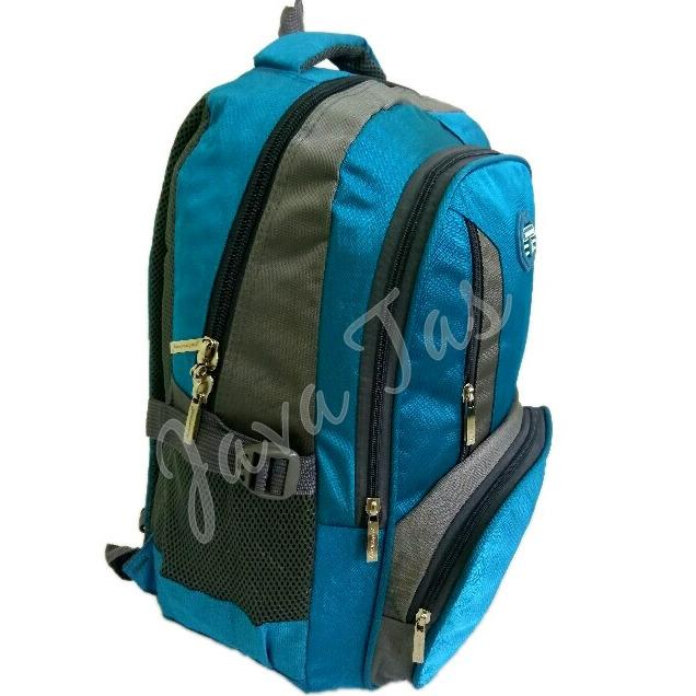 Promo Toko Tas Ransel Backpack Polo Army Jv 01 Biru Weather Shield