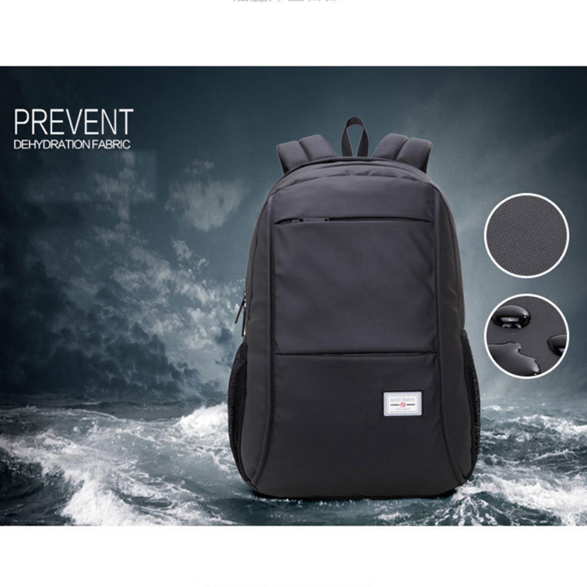 Spek Tas Ransel Backpack Tas Punggung Tas Laptop Kuliah Kerja Arctic Hunter Black Generic