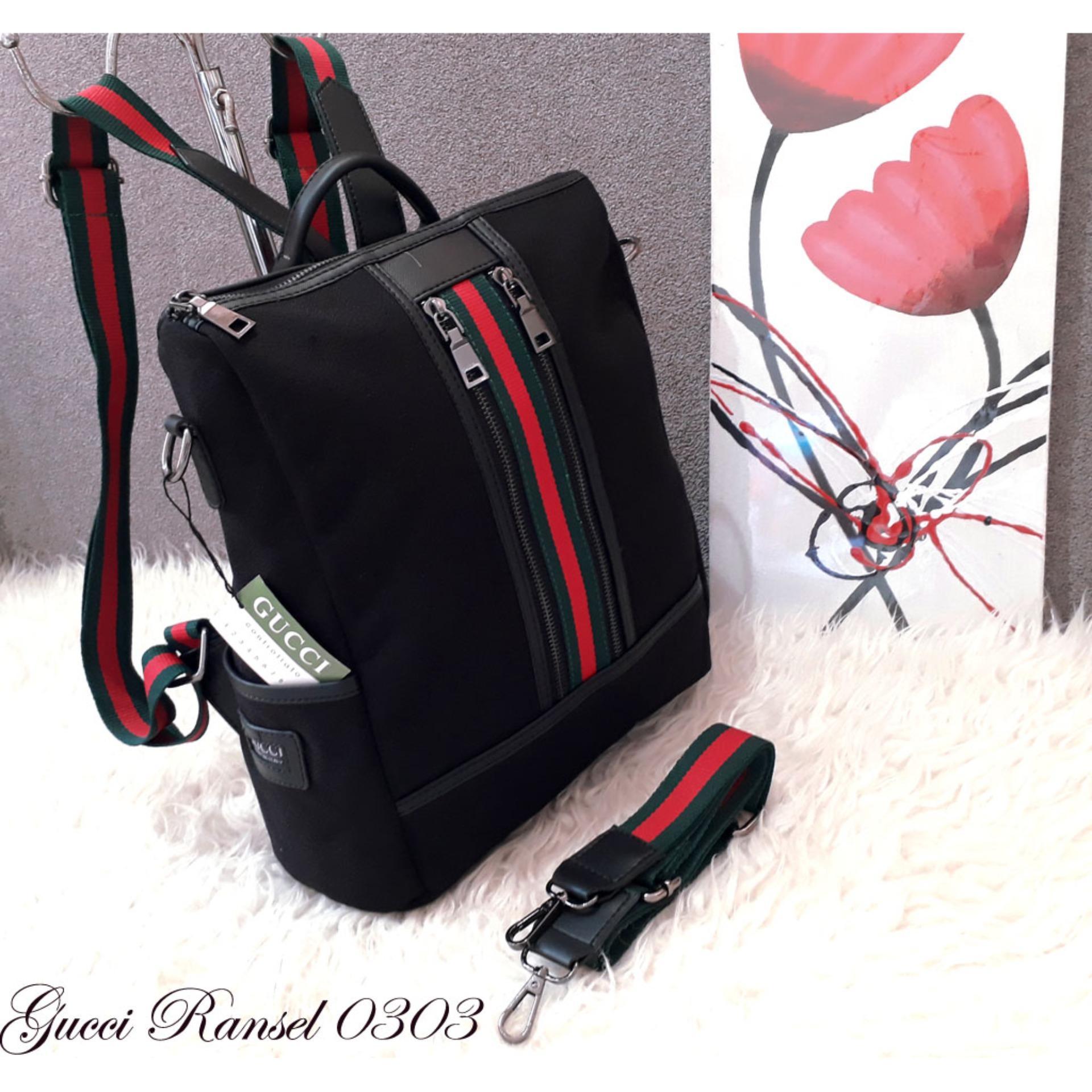 Tas Fashion Paket 3 In 1 Ransel Motif Dot Warna Merah Daftar Wanita Flower Rumbe 3in1 Backpacks