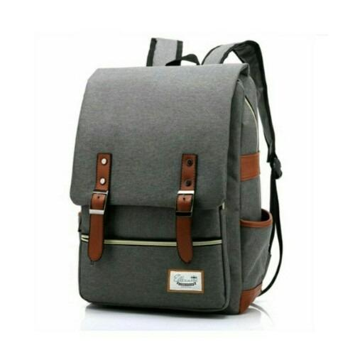 Spesifikasi Tas Ransel Korean Style Retro Vintage Import Design 17 Inchi 1506 Zv Polyester Canvas Terbaru