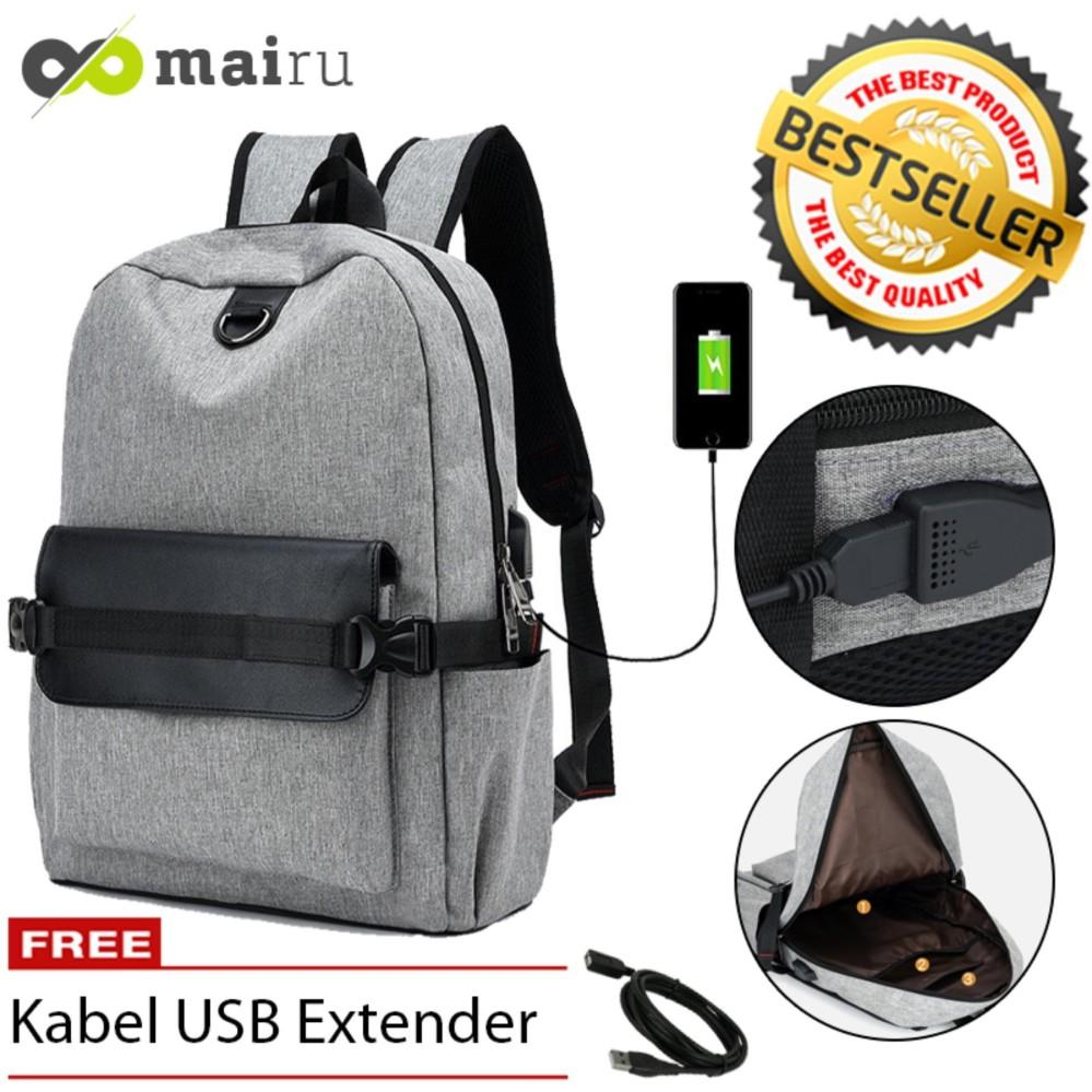 Dapatkan Segera Tas Ransel Laptop Backpack Import Untuk Pria Wanita Anak Sekolah Support Usb Port Charger Mairu 706