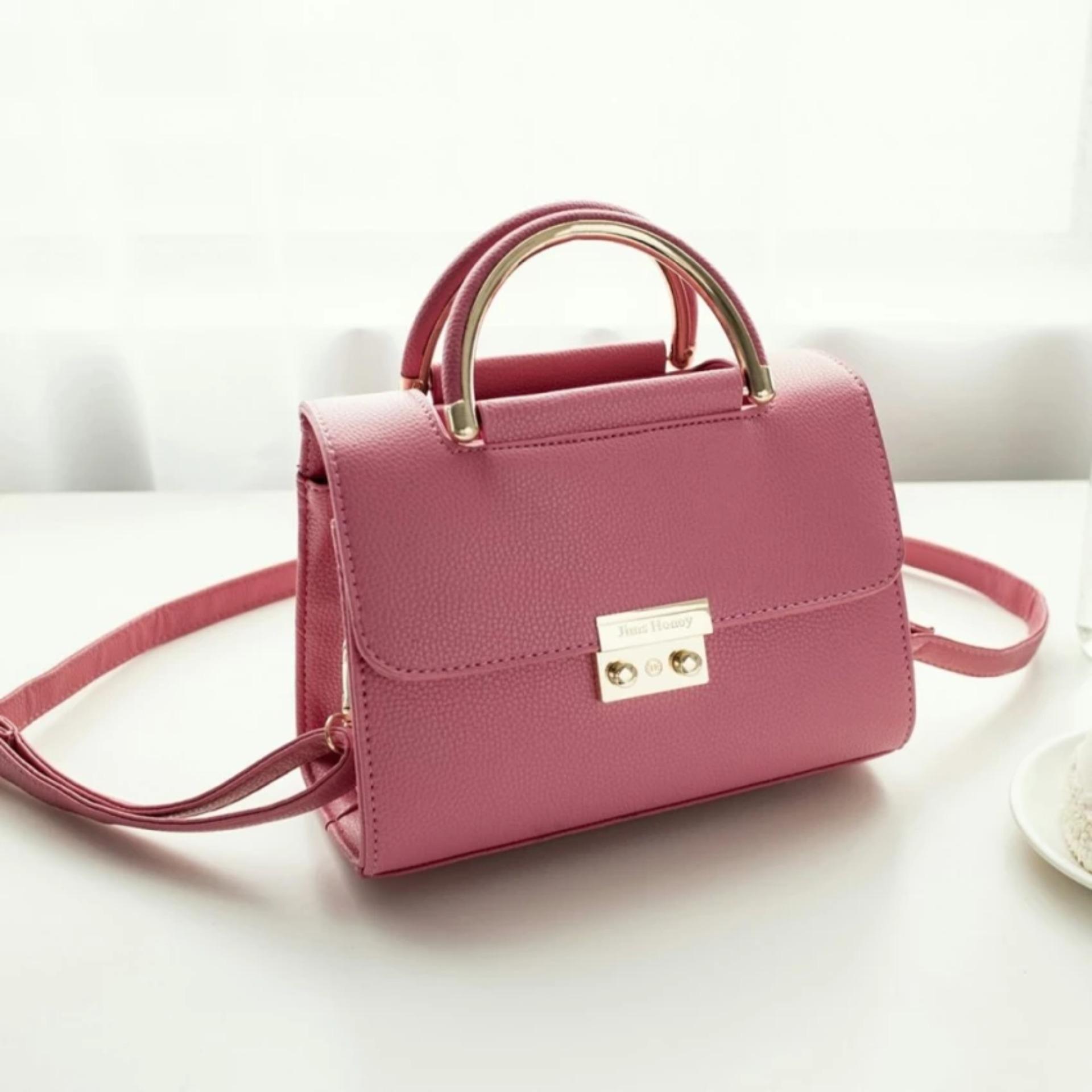 Jual Tas Selempang Wanita Jimshoney Zoey Bag Pink Branded Murah