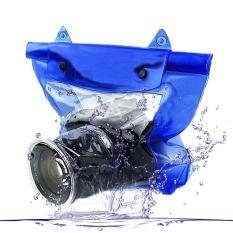 Tas Waterproof Universal Untuk Kamera Dslr Blue Diskon Akhir Tahun