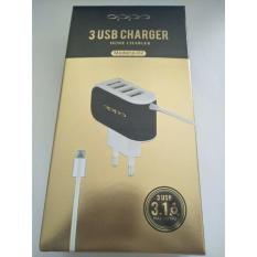 Review Toko Tc Charger Oppo Ori 3Usb 3 1A Charger P 02 Vps