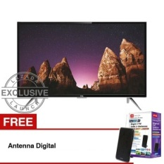 TCL 32 inch LED SMART TV - Hitam (Model: L32S4900) + GratisAntennaDigital
