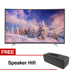 TCL 48 inch LED Full HD Smart Curved TV - Hitam (Model L48P1CFS) free Speaker Hifi