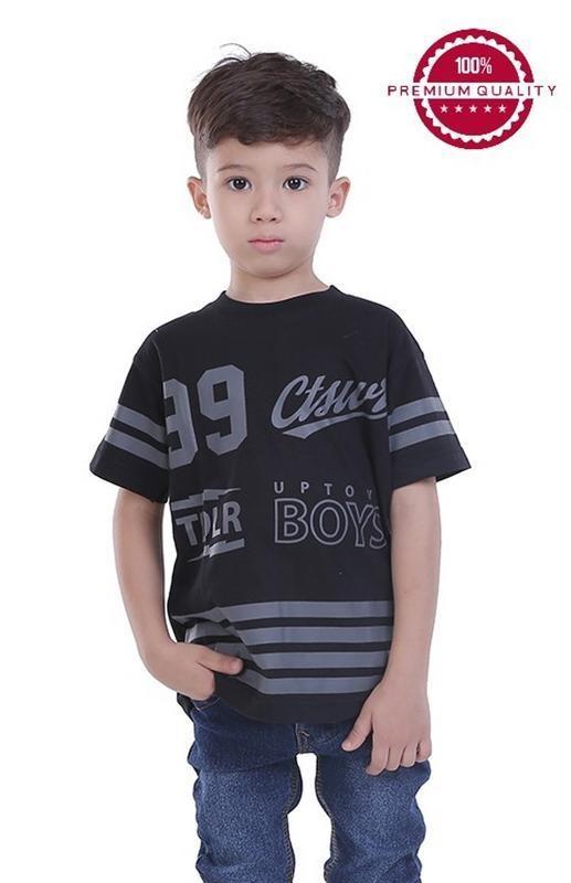 Spesifikasi Tdlr Kaos T Shirt Anak Laki Laki Hitam Tbn 0058 Lengkap Dengan Harga