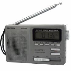 Tecsun Dr 920C Radio Fm Mw Thomson 12 Band Jam Digital Alarm Pesawat Penerima Radio Fm And Lampu Latar Abu Abu Diskon Tiongkok