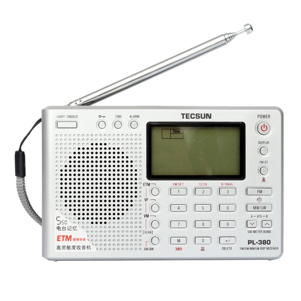 Harga Tecsun Pl 380 Dsp Pll Fm Mw Sw Lw Digital Stereo Radio Dunia Band Receiver New Silver Internasional Merk Not Specified