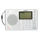 Promo Tecsun Pl 380 Dsp Pll Fm Mw Sw Lw Digital Stereo Radio World Band Receiver New Silver Intl Oem