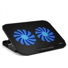 Tekhome 2-Penggemar 12-15.6 Inch Laptop Pendinginan Alas, Cooler Game Terbaik Buku Catatan Seperti Alienware, macbook, 1500 Rpm 5.5-Inci Kipas, Dapat Disesuaikan Angin, LED Biru Ringan, level 5 Heights, 2 Port USB. (LTC003)-Internasional