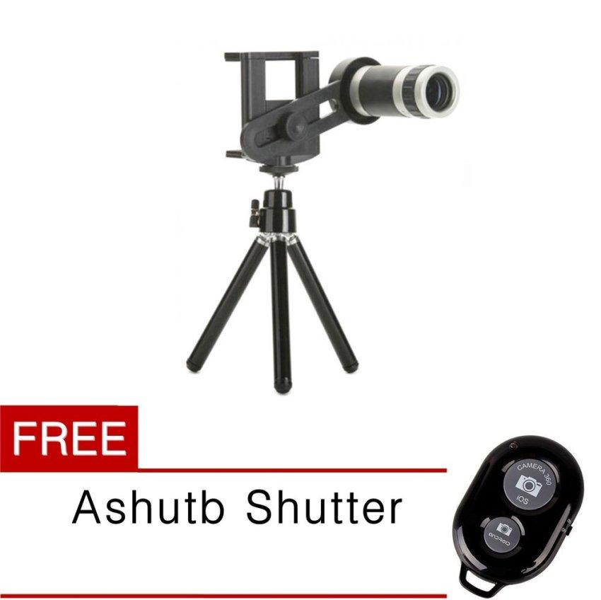 Toko Tele Lens Quality Telescope 8X Zoom Black Free Ashutb Shutter Hitam Online Di South Sumatra