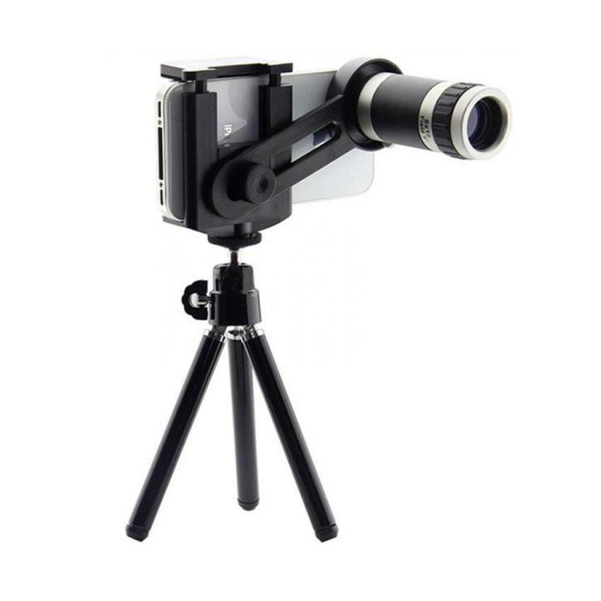 Jual Tele Lens Quality Telescope 8X Zoom Hitam Baru