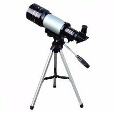 Teleskop Monocular Space Astronomical Telescope 300/70mm - F30070M Teropong Bintang with Tripod Aluminium 38cm Land and Sky Jarak Jauh Astronomi Observasi Bulan Bintang Langit Jelas Cocok untuk Pemula - Silver