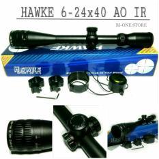 Jual Teleskope Hawke 6 24X40 Ao Ir Glass Reticle Hitam Branded