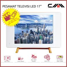 TV MONITOR LED 17 inch - CM170SP6 - CMM - USB Movie - Putih - TV USB VGA HDMI AV