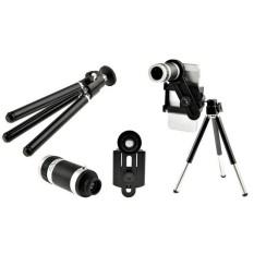 Telezoom 8x + Tripod+ Holder Camera Lensa Tongsis / Monopod Kamera