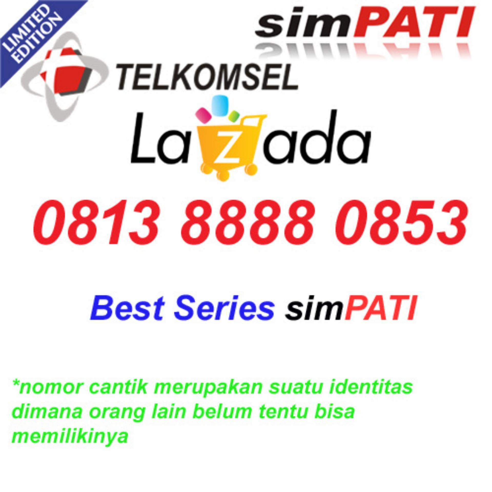 Bandingkan Toko Telkomsel Simpati 0813 8888 0853 Kartu Perdana Nomor Cantik Super sale - Hanya Rp288
