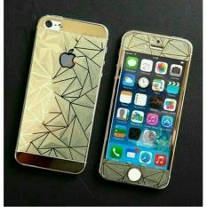 Tempered Glass 3D 2in1 For iPhone 5G/5S/5SE Diamond Colour Screen Protection - Gold