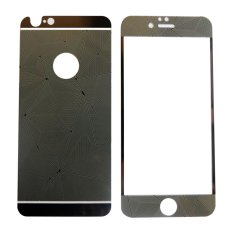 Tempered Glass 3D 2in1 For iPhone 6/ Iphone6/ iPhone 6G/ iphone 6S Ukuran 4.7 Inch Diamond Colour Screen Protection - Hitam