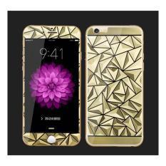 Tempered Glass Apple iPhone 6G 6S Mirror 3D Diamond - Gold