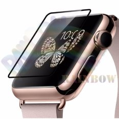 Harga Tempered Glass Apple Iwatch 42 Mm 1St Series Black Edge Full Coverage Screen Protector Pelindung Layar Jam Anti Bubbles Scratch Resistant Ring Black Baru