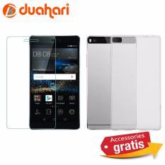 Spesifikasi Tempered Glass Casing Handphone Soft Case Transparan Bening Untuk Huawei P8 Merk Oem