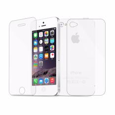 Harga Tempered Glass For Iphone 4 4S Clear Anti Crash Film Iphone Depan Belakang Yg Bagus