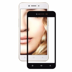 Tempered Glass For Oppo A37 Full Screen Black Screen Anti Gores Kaca / Screen Guard / Screen Protection / Temper Glass / Pelindung Layar Kaca Oppo A37 / Depan Only / Full Cover Layar - Black / Hitam